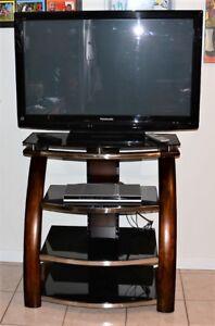 """42""""Panasonic TV, stand, DVD player"""