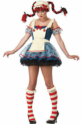 Rag Doll Costume for Teen/Adult size XS (4-6) Raggedy New by Cal. Costumes 01376 (Halloween Costumes For 6)