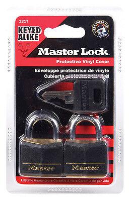 Master Lock 131T Covered Brass Steel Shackle Padlock