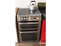 Hot point fan oven with grill and gas hobs