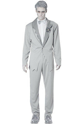 Ghostly Groom Wedding Adult Halloween Costume Cosplay - X Large Male Halloween Costumes