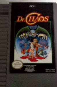 NES Original Cartridges for Dr Chaos and Tetris