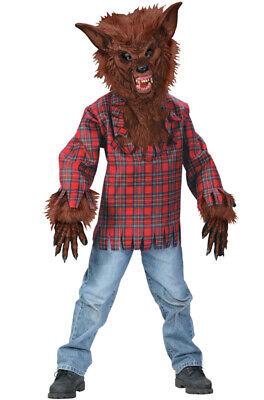 Brand New Werewolf Wolf Boy Child Costume - Brown](Wolf Boy Costume)