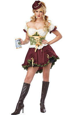 Oktoberfest Irish Beer Garden Girl Steampunk Adult Costume - Steampunk Girls Costume