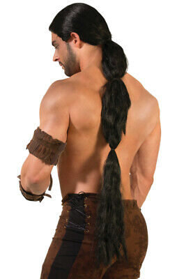 Brand New Game of Thrones Drogo Dothraki Warrior Costume Wig (Black) - Drogo Costume