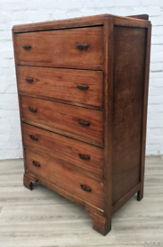 Vintage Oak Tallboy Chest Of Drawers (DELIVERY AVAILABLE)