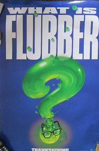 """Movie Poster """" Robin Williams Flubber """"What is Flubber?"""""""