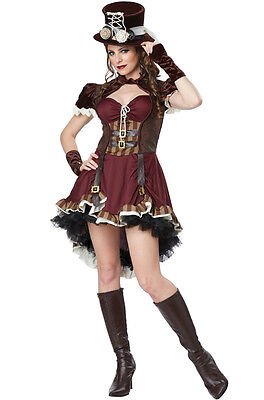 Steampunk Girl Burlesque Adult Costume - Girls Steampunk Costume