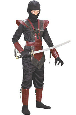 Brand New Leather Ninja Fighter Child Halloween Costume (Red)](Baby Ninja Costume Halloween)
