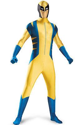 New Wolverine Skinovations Bodysuit Adult Costume By Disguise 50378 Costumania (Wolverine Costume Adults)