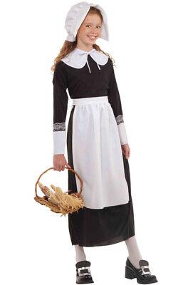 Brand New Instant Colonial Pilgrim Girl Costume Kit (Child)