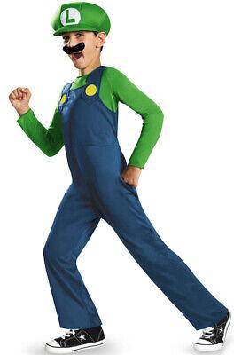 Brand New Super Mario Luigi Classic Child Costume](Baby Mario Costumes)