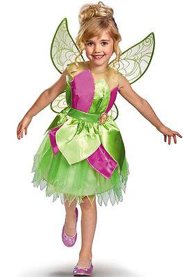 Toddler Child Disney Tinker Bell Tinkerbell Deluxe Costume ](Toddler Tinkerbell Costumes)