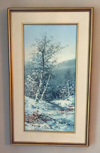 Landscape Oil Canvas Painting by N. Sherwood