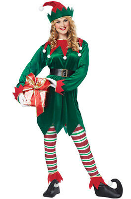 Santa Elf Costume (Brand New Christmas UniSex Elf Santa Claus Helper Adult)