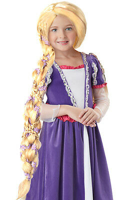 Rapunzel Tangled Child Costume Wig  - Braided Long Blonde](Childrens Rapunzel Wig)