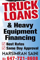 TRUCK AND EQUIPMENT LOANS ANYWHERE IN CANADA GOOD OR BAD CREDIT