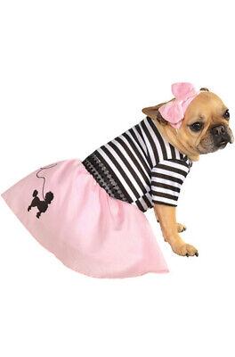 1950s Pink Fifties Girl Poodle Skirt Pet Dog -