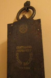 Antique CHATILLONS 100 lb. Spring Balance Hanging Scale Kitchener / Waterloo Kitchener Area image 3