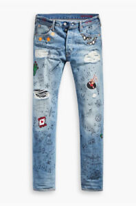 LEVIS LIMITED EDITION CELEBRATION DAY 501 JEANS SCRIBBLE RARE 33