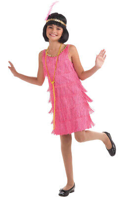 Brand New Little Miss Fashion Flapper Child Costume (L)](Little Girls Flapper Dress)