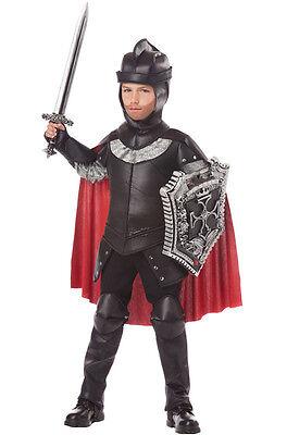 Black Knight Renaissance Medieval Warrior Child Costume - Black Knight Costumes