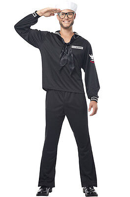 Retro Navy Man Military Outfit Adult Halloween Costume (Military Halloween Costume)
