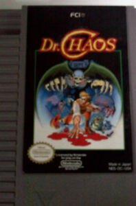 NES Original Cartridge for DR Chaos and Tetris