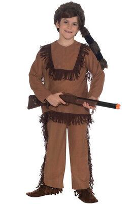 Davy Crockett Costumes (Brand New Davy Crockett Native American Indian Child Costume)