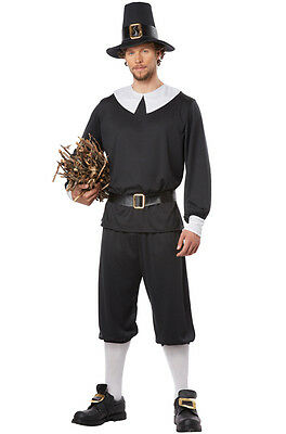 Pilgrim Man Thanksgiving Colonial Adult Costume (Pilgrim Costume Adult)