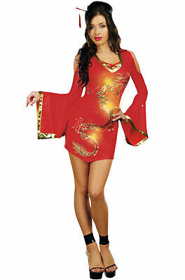 Dragon Mistress Geisha Costume for Women size Small (2-6) New by Dreamgirl 8853