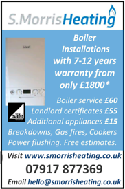 Boiler service, Installation, breakdowns and gas safety certificates