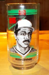 1986 TORONTO BLUE JAYS  WILLIE UPSHAW  FRITO LAY  BECKERS  GLASS