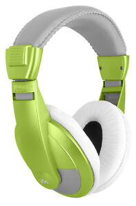 VM Audio SRHP15 Stereo MP3/iPhone iPod Over the Ear DJ Headphones - Neon Green