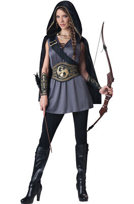 Brand New Huntress Medieval Warrior Hunger Game Adult Halloween Costume - Halloween Game Costumes