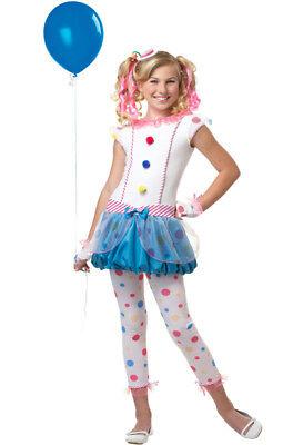 Dotsy Clown Tween Costume Size Large - Tween Clown Costume