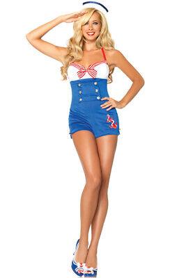 High Seas Honey Pin Up Sailor Romper Women Outfit Adult Costume](High Seas Honey Costume)