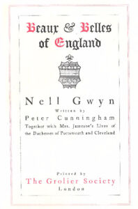 BEAU AND BELLES OF ENGLAND  NELL GWYN