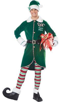 Mens Santa Outfit (Santa Helper Workshop Elf Holiday Outfit Christmas Adult Men)