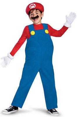 Disguise Super Mario Bros. Mario Deluxe Kinder Jungen Halloween Kostüm - Mario Bros Halloween Kostüm