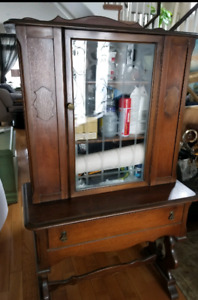 Condo size China cabinet over 100 years old