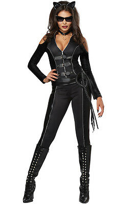 CARNEVALE HALLOWEEN COSTUME FATAL FELINE CATWOMAN 01342 DONNA S