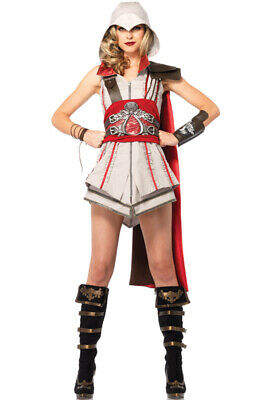 Brand New Assassin Creed Ezio Girl Women Cosplay Outfit Adult Costume