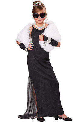 .Hollywood Diva Red Carpet Starlet Audrey Hepburn Child Costume](Kids Hollywood Costumes)