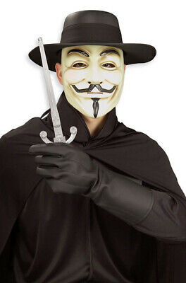 Halloween Costumes For Male (V for Vendetta Guy Fawkes Adult Costume)