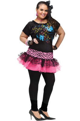 Brand New 80's Pop Party Cyndi Lauper Plus Size Costume - 80s Costumes Plus Size