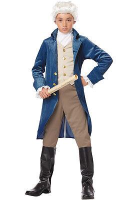 President Hamilton George Washington Thomas Jefferson Colonial Child Costume