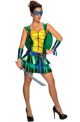 Teenage Mutant Ninja Turtles Leonardo Dress Up Adult Halloween Costume SMALL NEW - Female Tmnt Costume