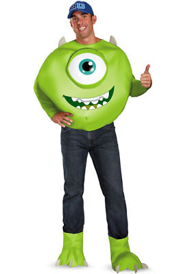 Monster Inc Adult Costume (Mike Monsters Inc University Deluxe Adult)