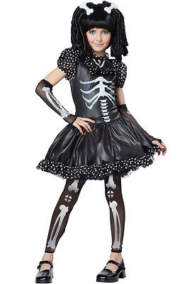 Gothic Zombie Skull Skeleton Girl Child Costume